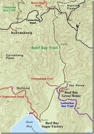 Reef Bay Trail Map